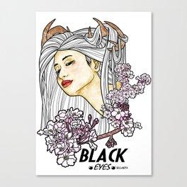 Black Eyes Japan Canvas Print