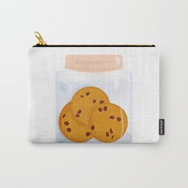 Chocolate chip cookie, homemade biscuit in glass jar Carry-All Pouch