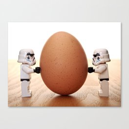 Storm trooper egg Canvas Print