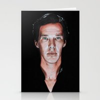 cumberbatch Stationery Cards featuring Benedict Cumberbatch  by Cécile Pellerin
