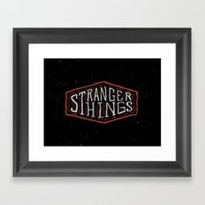 Stranger Things Framed Art Print