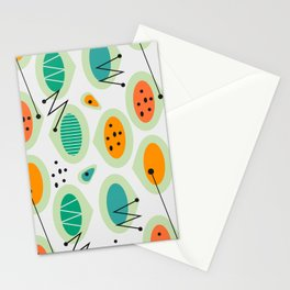 Mid-century abstraction Stationery Cards