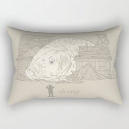 Oh carp. Rectangular Pillow