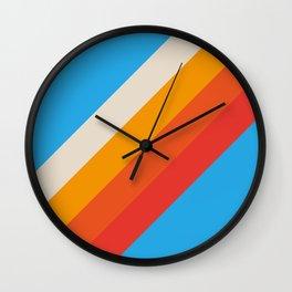 Gefjun - Classic Minimal Retro Summer Style Stripes Wall Clock