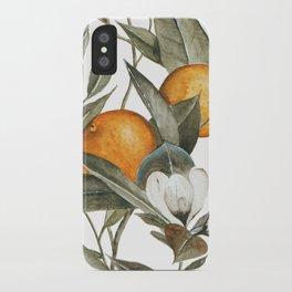 Blooming Citrus Watercolor iPhone Case