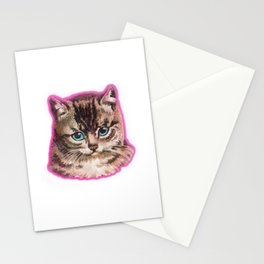 Staring Awesome Cat Face Stationery Cards