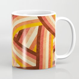 Vintage Orange 70's Style Rainbow Stripes Coffee Mug