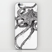 shower iPhone & iPod Skins featuring Octopus by TAOJB
