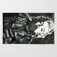 death star Area & Throw Rugs featuring Death Star by Matt Pecson