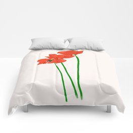 Lovely Poppies Comforters