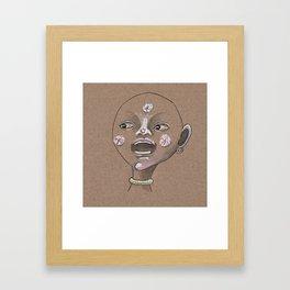 Moon boy singing moon song Framed Art Print