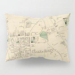 Vintage Map of Huntington NY (1873) Pillow Sham