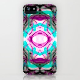 New Wave Divinity Fractal Pattern iPhone Case