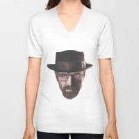 heisenberg V-neck T-shirts featuring Heisenberg  by malobi