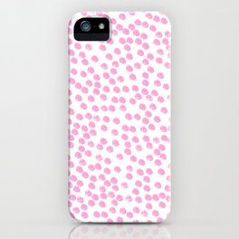 Pink dots iPhone Case