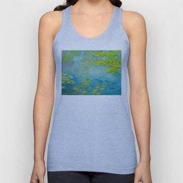 Claude Monet Impressionist Landscape Oil Painting Water Lilies Unisex Tank Top