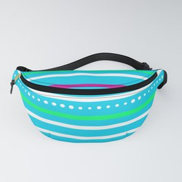 Blue Stripes and Dots Fanny Pack