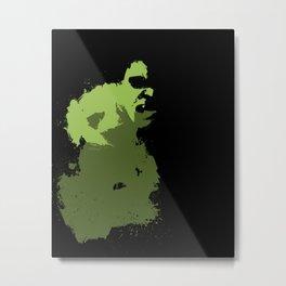Hulk Splatter Metal Print