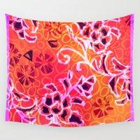 camo Wall Tapestries featuring Garden Camo by Vikki Salmela