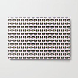 Antigua and Barbuda Love flagMotif Repeat Pattern design background  Metal Print