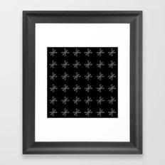CROSS OUT BLK Framed Art Print