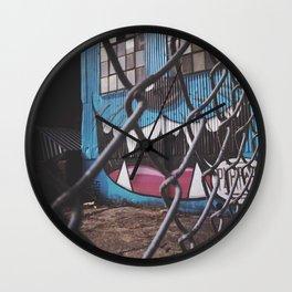 Meow Graffiti Wall Clock