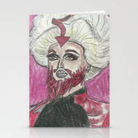 """rupaul Stationery Cards featuring """"Wake Up Pearl!"""" by Vincenzo Dama"""