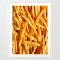 fries Art Prints featuring Fries by Maioriz Home