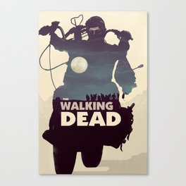 Daryl Dixon - Blue Canvas Print