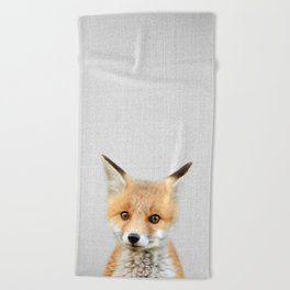 Baby Fox - Colorful Beach Towel