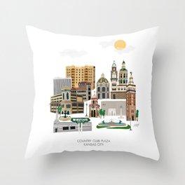 Kansas City Plaza Throw Pillow