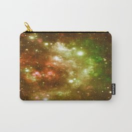 Golden Brown & Green Galaxy Nebula Carry-All Pouch