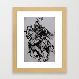 Jousting Framed Art Print