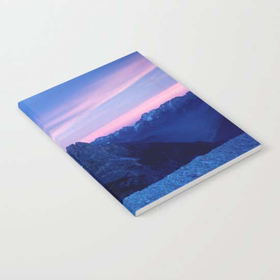 Romantic Sunset in the Snowy Mountains #2 #art #society6 Notebook