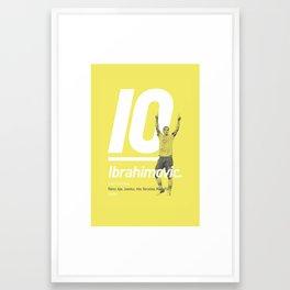 Ibrahimovic Sweden 10 Framed Art Print