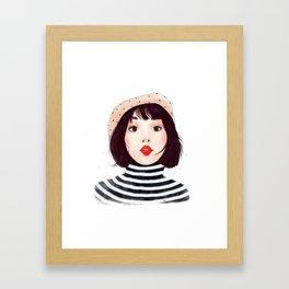 French woman Framed Art Print