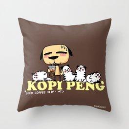 Kopi Peng Throw Pillow