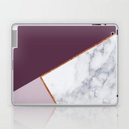 MARBLE PLUM PURPLE LAVENDER COPPER GEOMETRIC Laptop & iPad Skin