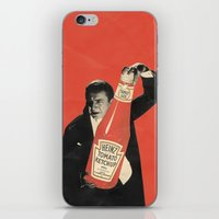 vegetarian iPhone & iPod Skins featuring Vegetarian Vampire by Karolis Butenas