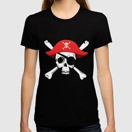 Pirate Skull and Crossbones Jolly Roger  design T-shirt