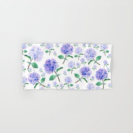 purple blue hydrangea pattern  Hand & Bath Towel