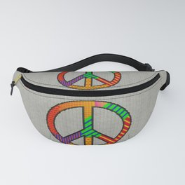 Knitting Peace Fanny Pack