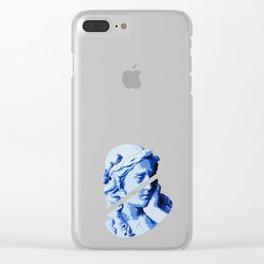 Aesthetic Vaporwave feminine Greek Marble Statue Gift Clear iPhone Case