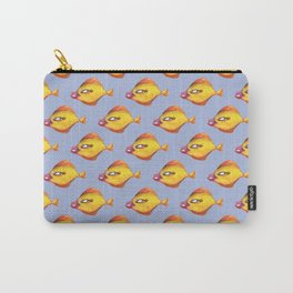 Fish Make Up pattern Carry-All Pouch