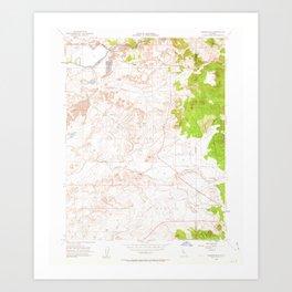 CA Carbondale 288948 1953 24000 geo Art Print