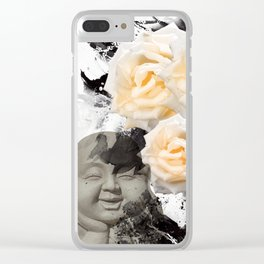 Wake Up And Smell The Roses Clear iPhone Case