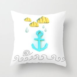 Papercraft Paper Planet. Sea Life Throw Pillow