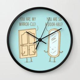Mirror and Door Wall Clock