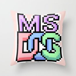 Pastel MS-DOS Throw Pillow