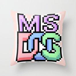 Pastel MS-DOS Throw Pillow